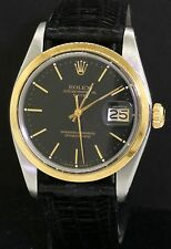 Rolex Date 1500 2-tone SS/14K gold automatic men's watch w/ black dial