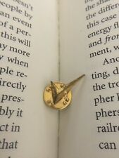 Check Mark Right Correct Answer Tick Gold Tone Metal Lapel Pin