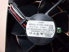MINEBEA 3110KL-04W-B66 DC12V .34A 7 blade fan 80mm X 25mm 3-pin connecter