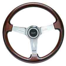 CLASSIC SPORT VINTAGE WOODEN STEERING WHEEL 370mm LUISI MAHOGANY NARDI STYLE