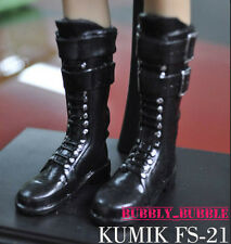 KUMIK 1/6 Black Long Boots FS-21 For Black Widow Catwoman SHIP FROM USA