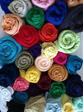 Clearance 10 kg Assorted Coloured Plain Silk/Soft Touch Fabric Offcuts