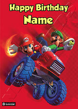 - MARIO KART WII - IDEAL FOR SON NEPHEW PERSONALISED CHILDREN'S BIRTHDAY CARD