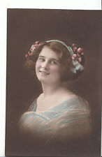 Glamour Postcard - Head and Shoulders of Young Lady - Smiling    V781