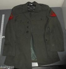 U. S. Marine Corps Dress Green Uniform Jacket 36s