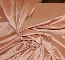 "54""Wide 100% Silk Shantung Dupioni Chinese Fabric Peach Antique Pink BY THE YARD"