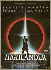 Affiche HIGHLANDER LE RETOUR Sean Connery CHRISTOPHE LAMBERT 120x160cm*