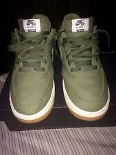 Supreme Af1 Low Premium NRG Olive Green Air Force One Canvas Camo Black Size 9.5