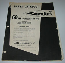 Parts Catalog Gale 60 HP Outboard Motor 60D11B 60DE11B 60DG11B 60DL11B 60DEL11B!