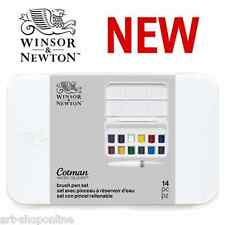 NEW Winsor and Newton Cotman Watercolour Pocket Size Brush Pen Set