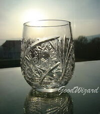 Russian European Cut Crystal Glasses 8,4oz (250 ml).Scotch,whisky,tonic set of 6