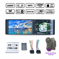 HD 4.1'' Bluetooth Car Radio Stereo Aux MP3 MP4 MP5 Player 1 Din FM Support TF