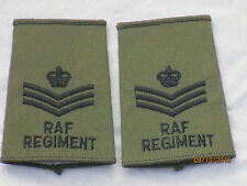 GB-Rangschlaufen: Staff Sergeant, Royal Air Force,oliv, RAF, Luftwaffe