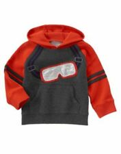 NWT Gymboree King of Cool Boy Pullover hoodie Sweater Sz: 2T-3T Ski Googles