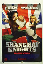 SHANGHAI KNIGHTS - Jackie Chan - Original Movie Poster - 2003 Rolled DS C9
