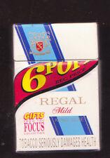 Empty cigarette packet Regal Mild 6p off