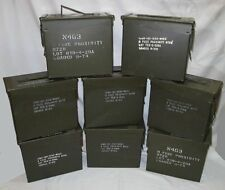 """8 QTY """"TALL"""" 50 CAL AMMO CAN DEAL; Original Markings, A+ shape & FREE SHIPPING !"""