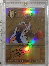 2012-13 PANINI GOLD STANDARD MOTHER LODE KOBE BRYANT ON CARD AUTO /99
