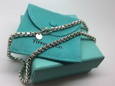 Tiffany & Co Sterling Silver Venetian Box Link Necklace 18 Inches