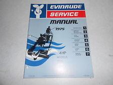 1975 4 hp Johnson Outboard Motor Repair & Service Manual Evinrude 4hp