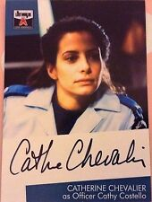 THE LOST WORLDS OF GERRY ANDERSON: AUTOGRAPH CARD: CATHERINE CHEVALIER AS CATHY