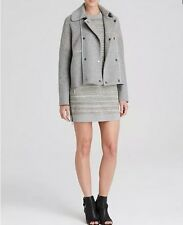 NWT $695 VINCE HEATHER GREY SHERPA BOUCLE PEA COAT SWEATER JACKET Size XS