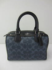 NWT Coach Signature Mini Bennett Satchel Handbag Purse Denim F58312