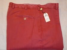Peter Millar Raleigh Washed Twill Pima Cotton Khaki Pants NWT $125 36 x 36 Red