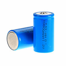 2 Pcs Kinds of D Size 1.2 V 10000mAh NI-MH Rechargeable Battery Blue Color