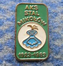 AKS STAL MIKOLOW 60 ANNIVERSARY /1923-1983/ POLAND FOOTBALL FUSSBALL SOCCER PIN