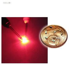 50 x SMD LED 0603 rojo mini LEDs SMDs colorete rosso cruz profundo SMT
