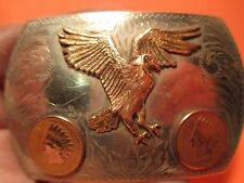 1901 1904 COMSTOCK SILVERSMITHS Indian Head Pennies Eagle Belt Buckle MAKE OFFER