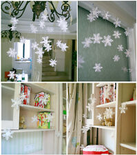 Snowflake Hanging Paper Garland Wedding Birthday Party Ceiling Banner Decor 3m