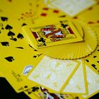 YELLOW REVERSED BACK Bicycle deck of playing cards 2nd ed black magic trick gaff