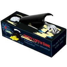 Creepy Coffin Bank Skeleton Money Coin Grabber Fun Novelty Toy