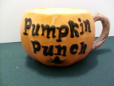 Ceramic Halloween Pumpkin Punch Mug