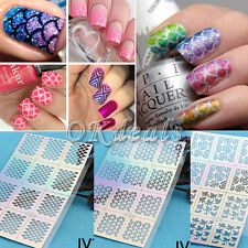 Beauty 12Tips/Sheet Nail Vinyls Nail Art Manicure Stencil Sticker Stamping Easy