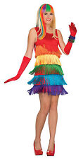 Adult 20s Rainbow Shimmy Flapper Costume