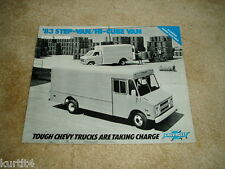 1983 Chevrolet Step Hi Cube Van P20 P30 G30 sales brochure dealer literature