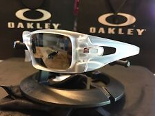 Oakley Men's Crankcase Sunglasses - Matte Clear Frame / polarized black iridium