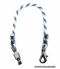 """ROYAL AND WHITE BRAIDED ROPE HORSE TRAILER TIE 32"""" NEW HORSE TACK EQUINE"""