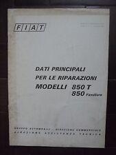 fiat 850t-850 familiare manuale dati principali per le riparazioni