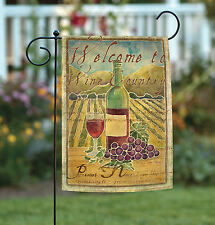 NEW Toland - Pinot Noir Welcome to Wine Country - Regional Garden Flag