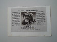 advertising Pubblicità 1940 ZEISS IKON SUPER IKONTA II
