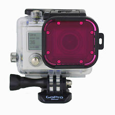 Polar Pro GoPro Hero 3 60m Housing Magenta Underwater Dive Lens Filter - P1010