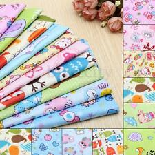 10 Assorted Kids Cartoon Animal Print Pre-Cut Charm Cotton Quilt Fabric Square