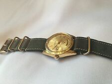Sicura Breitling 1960's RARE DAY-DATE Oyster, Gold Plated, Vintage, Serviced!