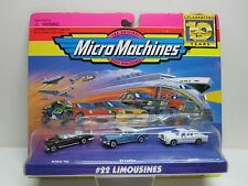 Micro Machines # 22 LIMOUSINES Bubble Top, 1959 Cadillac and Lincoln 10 Year Set