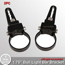 "2x 1.75"" inch 44mm Tube Bull Bar Mount Bracket Clamps for Off Road LED Light Bar"