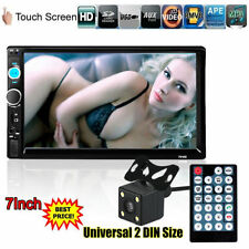 """7"""" 2 Din HD Car Stereo Radio Bluetooth Touch Screen Multimedia Player +Camera US"""